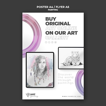 Painting gallery print template