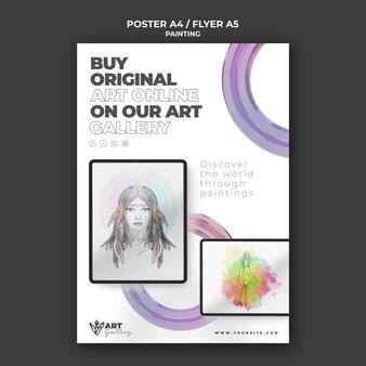 Modello di stampa galleria di pittura
