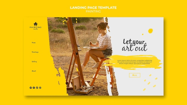 Painting landing page template
