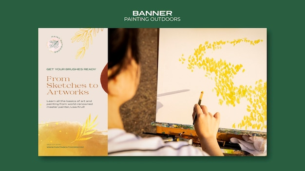 Painting outside ad template banner