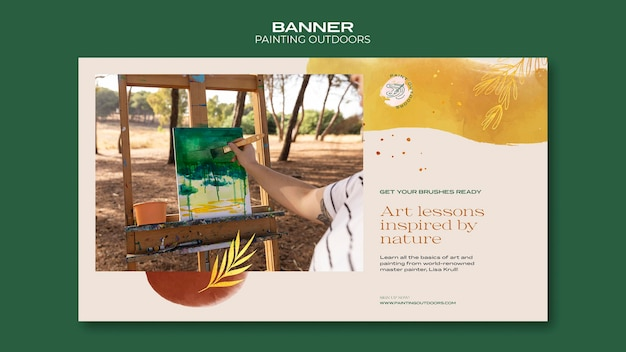 Painting outside template banner