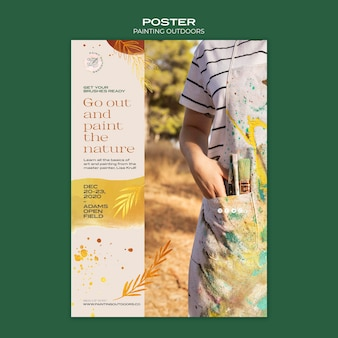 Painting outside template flyer