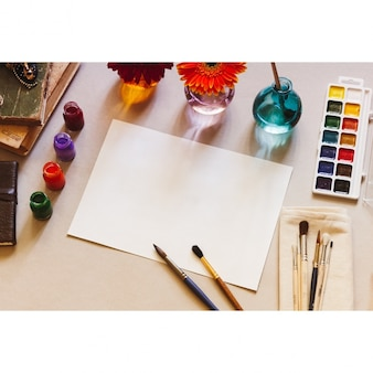 Painting paper mock up design