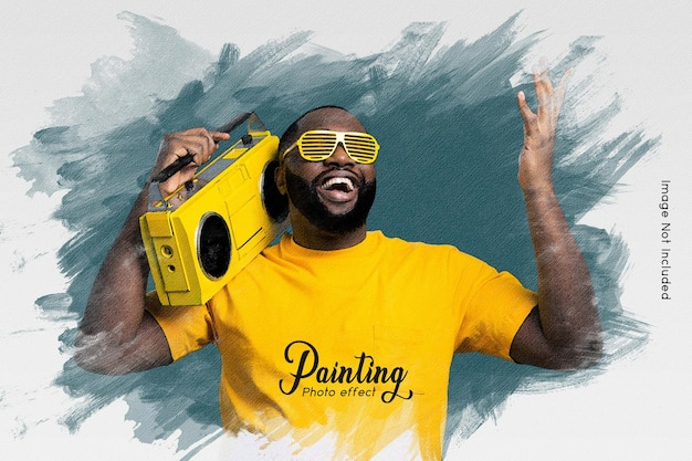 Painting photo effect template
