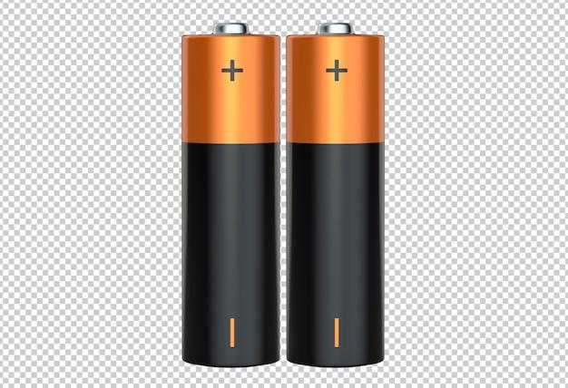 Pair of aa alkaline batteries