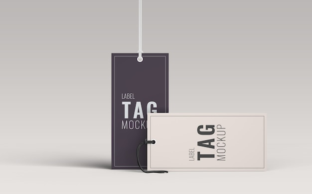 Pair fashion label tag mockup