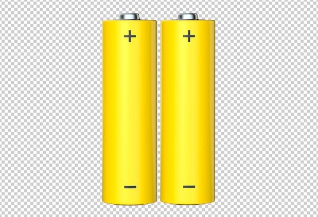 Пара желтых аккумуляторных батарей aa