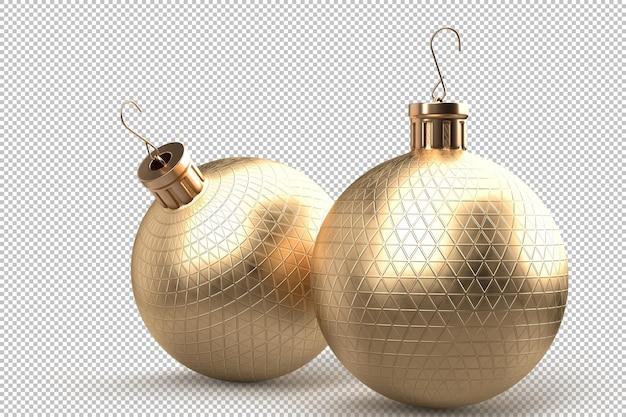 Пара декоративных новогодних шаров. 3d-рендеринг