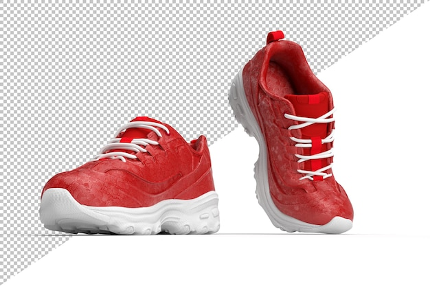 Pair of stylish shoes in 3d rendering isolated