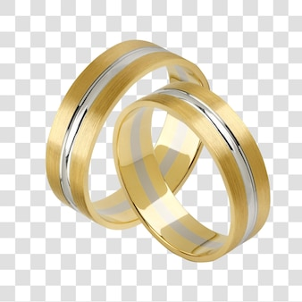 A pair of wedding rings, layered psd file