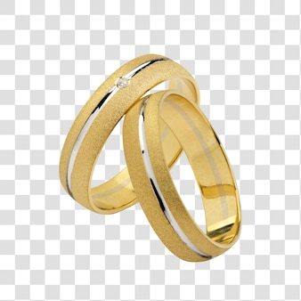 A pair of wedding rings, with clipping path.