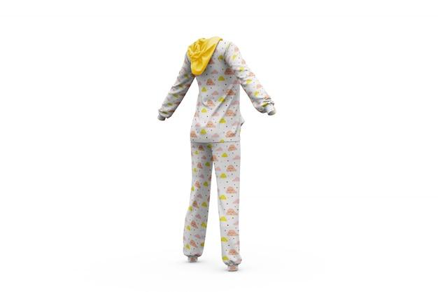Pajamas mock-up isolated