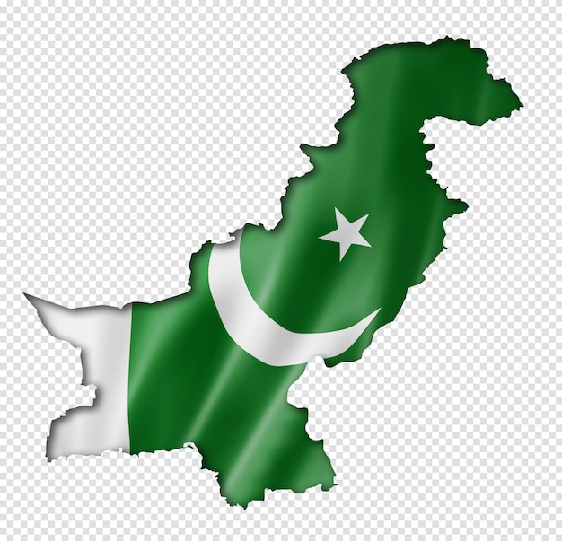 Pakistani flag map