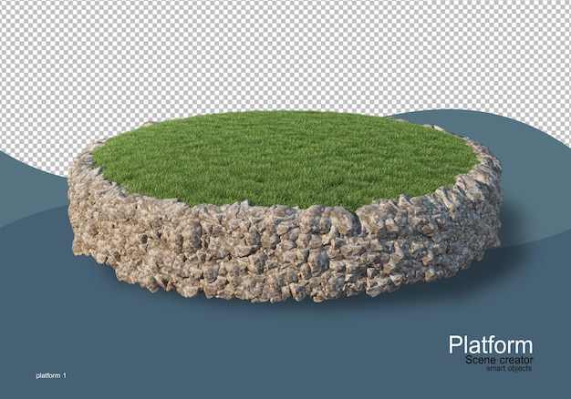 Pallet display in 3d rendering isolated