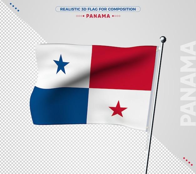 Панама 3d текстурированный флаг