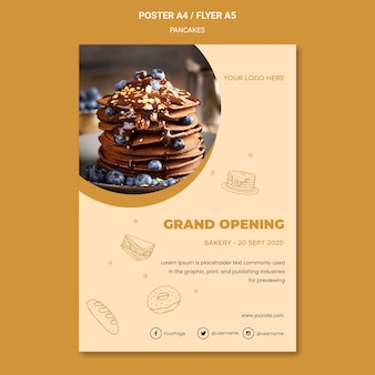 Pancakes restaurant flyer template