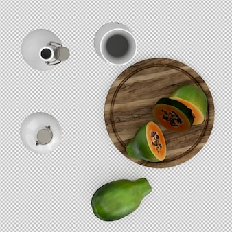 Papaya 3d render