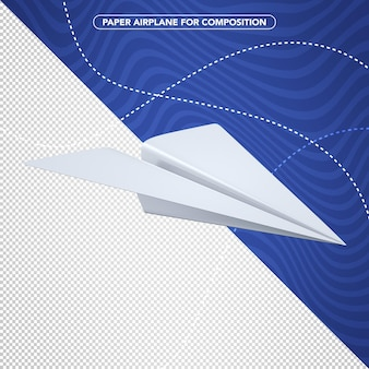 Paper airplane for composition