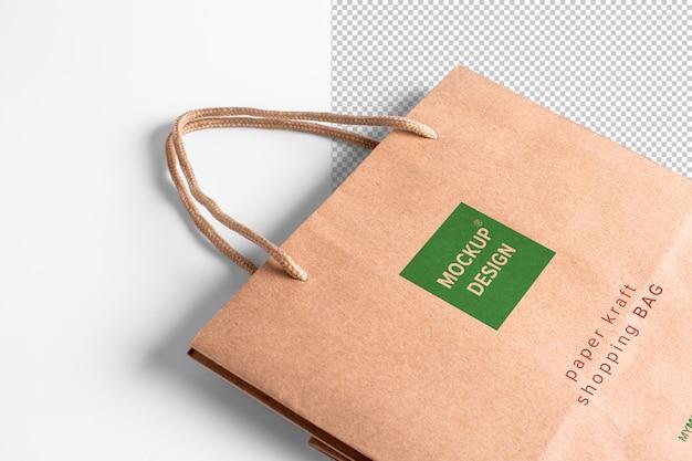 Бумажный пакет коричневый мокап