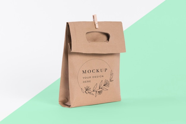 Paper bag concept with mock-up