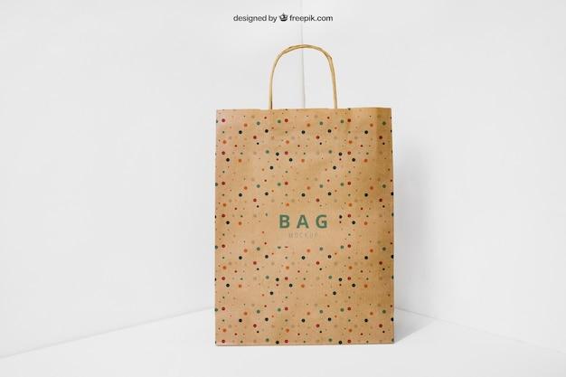 Paper bag in corner
