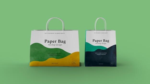 Изолированный макет бумажного пакета