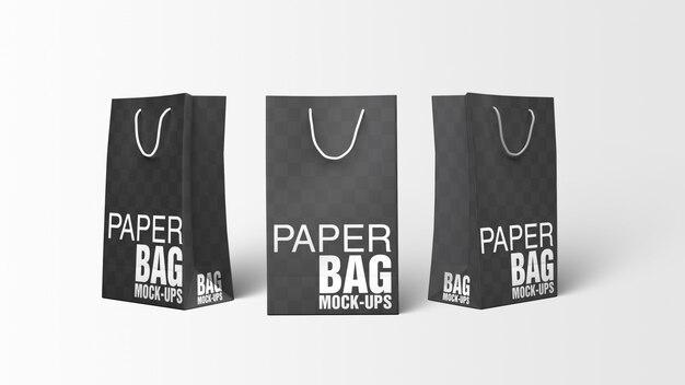 Бумажный пакет макетов free psd