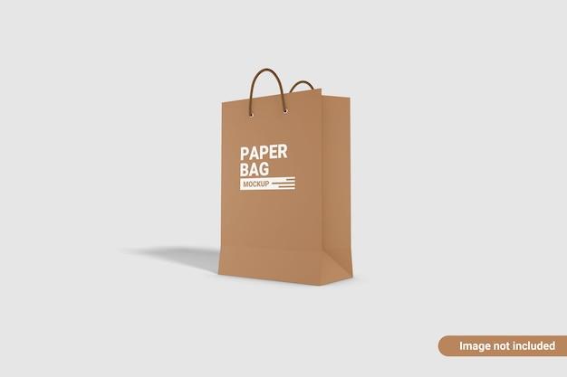 分離された紙袋のモックアップデザイン