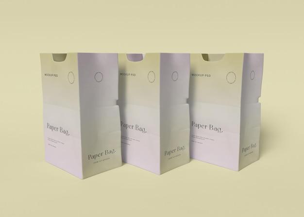 Бумажный пакет мокап