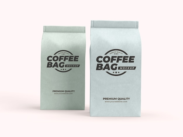 Paper bag packaging for coffee beans, dry fruits and other food items