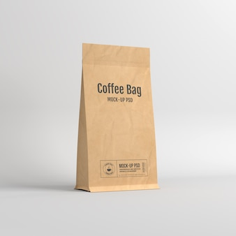 Paper bag packaging mockup