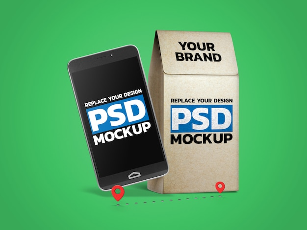 Paper bag photo mockup design