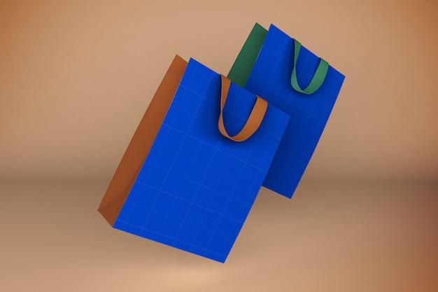 Бумажные пакеты 3d рендеринг