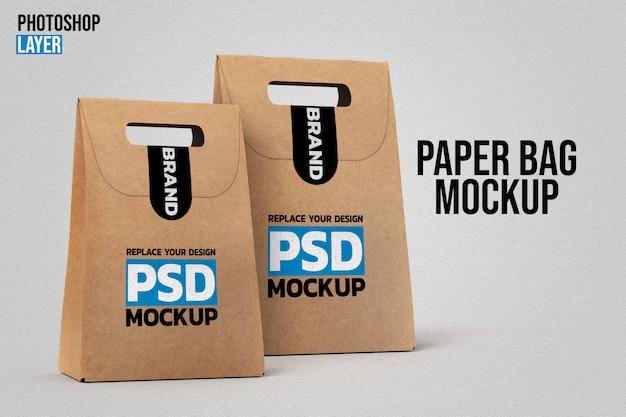 Макеты бумажных пакетов