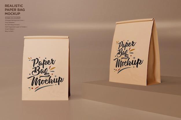 Макет бумажных пакетов