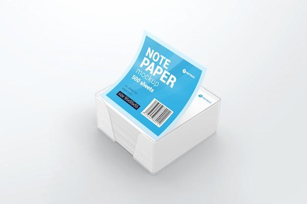 Paper block note mockup
