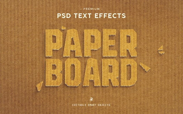 Paper board premium text effect