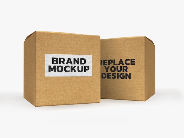 Paper box mockup 3d rendering design