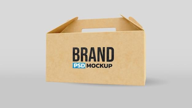 Мокап бумажной коробки 3d визуализации реалистичный