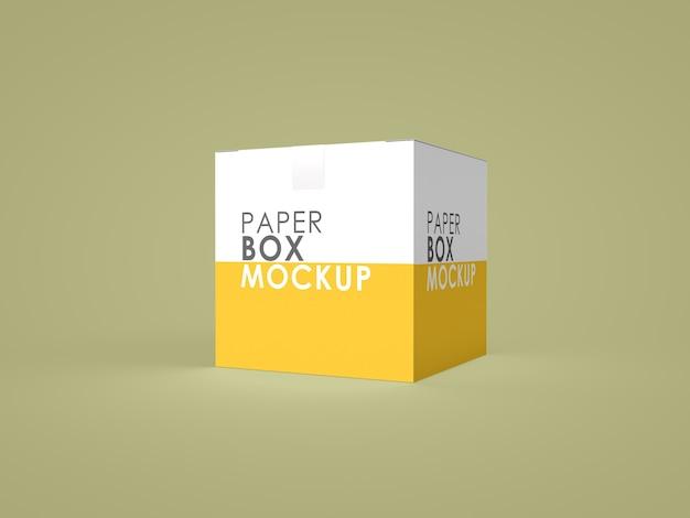 Макет бумажной коробки изолирован