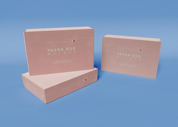 종이 상자 포장 모형