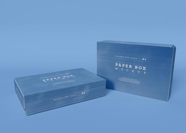 Мокап упаковки бумажной коробки