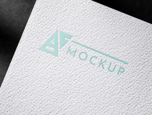 Paper business card with textured surface