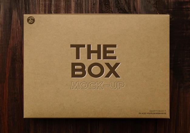 종이 골판지 상자 모형 디자인