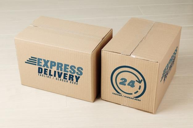 Макеты бумажных картонных коробок