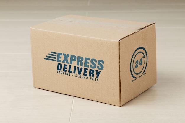 Paper cardboard boxes mockup