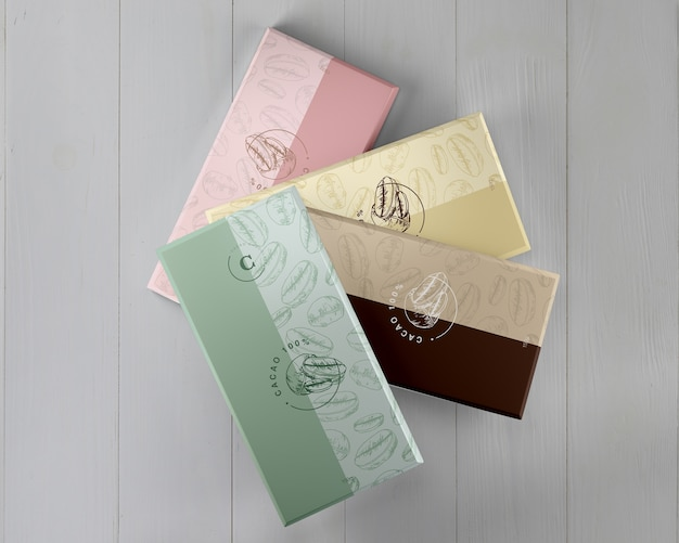 Paper chocolate wrapping designs