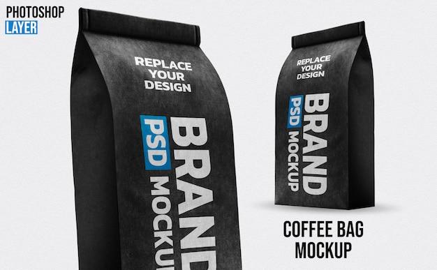 Бумажный кофейный пакет mockup design