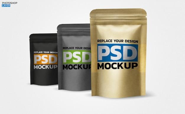 Бумажная кофейная сумка photo mockup design Premium Psd