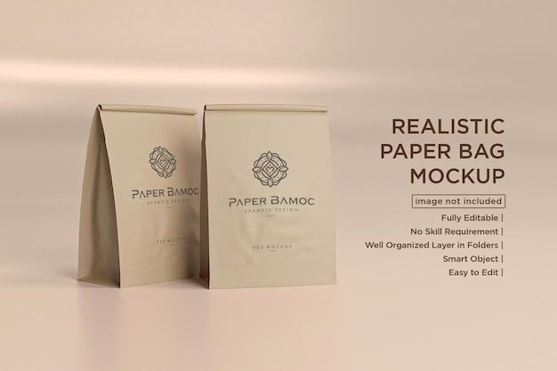 Макет бумажных пакетов для кофе